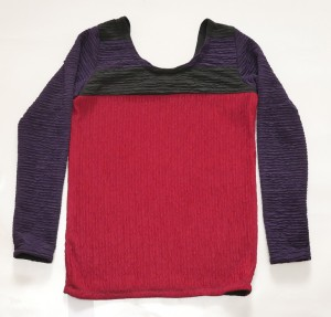 Red Black Purpel jersey top